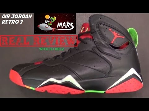 best website 36265 9ec07 Air Jordan 7 Marvin The Martian Shoe REAL Review With @DjDelz