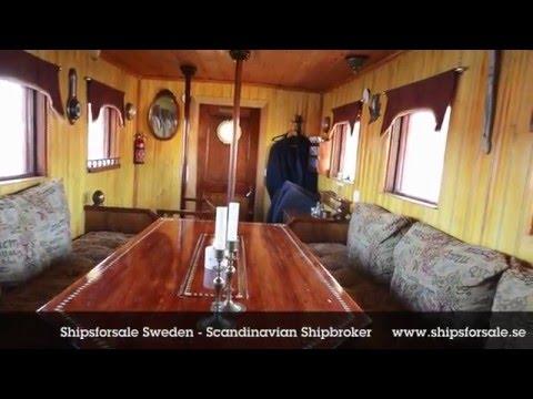 Shipsforsale Sweden Jungfruhamn, Historical tugboat/passenger vessel. Sold.
