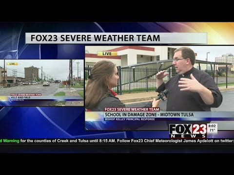VIDEO: Officials survey Bishop Kelley High School damage
