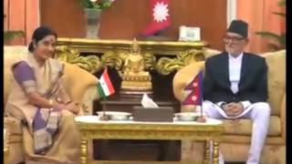 Indian foreign minister meets Nepal