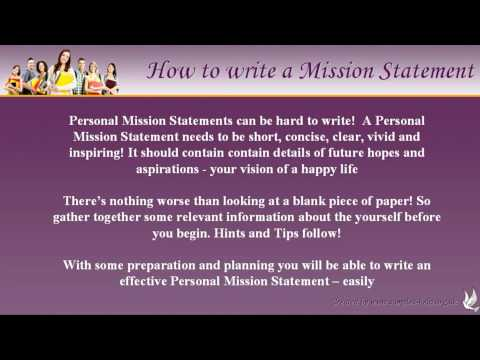 Personal Life Mission Statement Examples Step By Creating