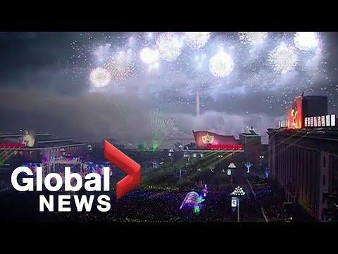 New Year's 2019: North Korea's FULL celebration in Pyongyang