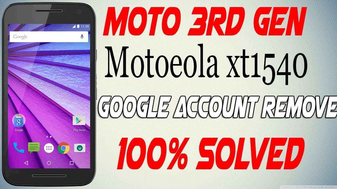 Motorola XT1540 Moto G 3rd - Google Account Remove Bypass Very Easy 2018