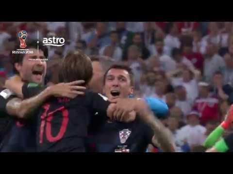 Croatia 2 - 1 England (AET) | 2018 FIFA World Cup | Astro SuperSport