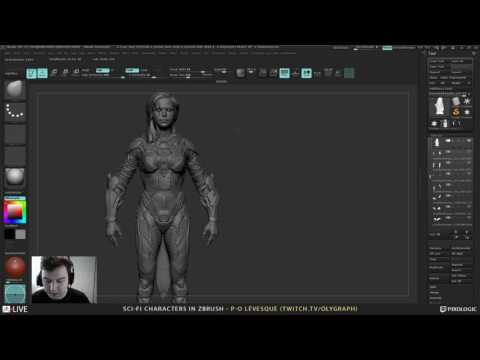 Pierre-Olivier Lévesque - Sci-Fi Characters in ZBrush Broadcast #1