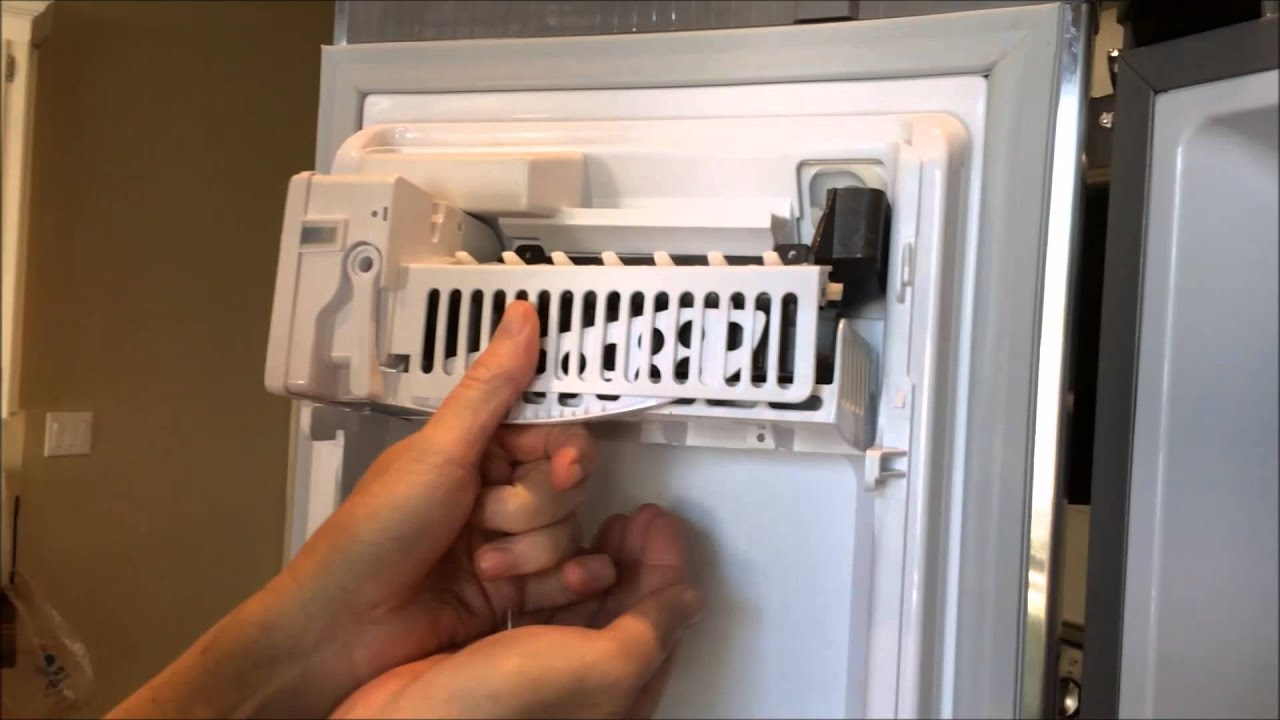 replace ice maker install samsung ice maker part da97 11092b youtube