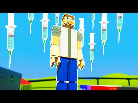 LEGO SURGERY PERFORMED WITH GIANT NEEDLES ON LEGO MAN! - Brick Rigs Workshop Creations Gameplay