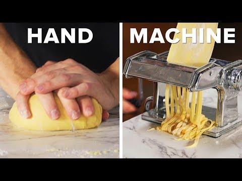 handmade-vs.-machine-made-pasta-and-meatballs-•-tasty