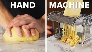 Download Handmade Vs. Machine-Made Pasta And Meatballs •Tasty Mp3 and Videos