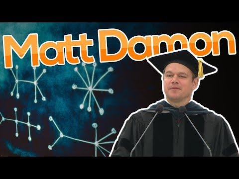 MIT Commencement Speaker Matt Damon