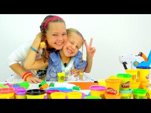 Пластилин Play Doh. ТОРТ - Как слепить из Пластилина. Мастер Класс для детей