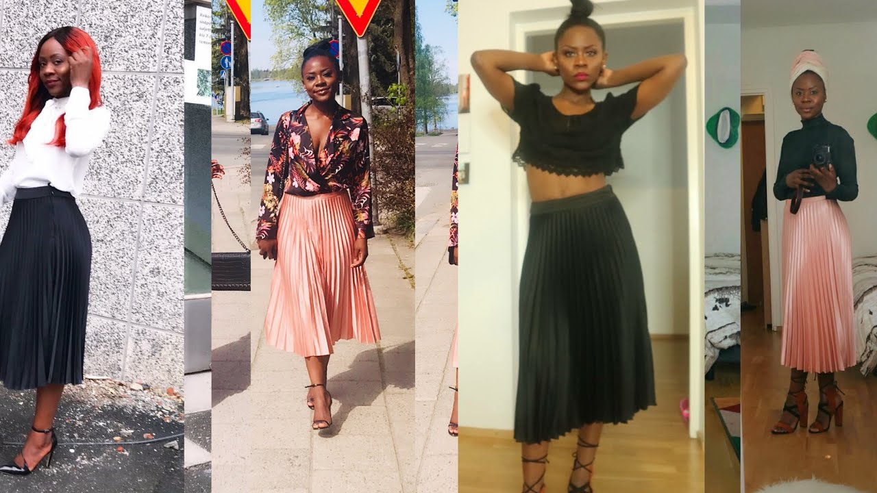 HOW TO STYLE UR PLEATED SKIRT! MIS WILLIAMS STYLE