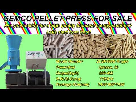 How to make biomass pellets with small pellet mill - wood pellet press machine