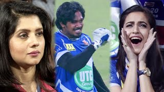 46 RUNS in Last 12 Balls By Karnataka Bulldozers Against Bengal. Actresses Kriti, Deepika Cheering.