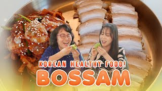 Bossam 보쌈 (Pork Belly Wraps)  + HEALTHY RICE + MUCHAE RECIPE! | Grace Lee TV