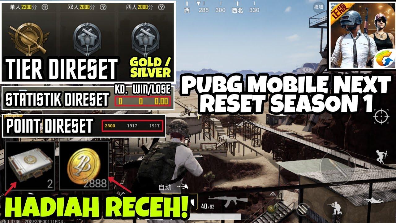Info Reset Rank Season 1 Pubg Mobile Statistik Reset Point Reset