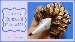 Kanzashi #148 - How to Make / DIY / Como Fazer  Ouriço / Porco Espinho/ Decoração