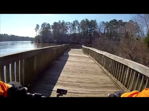 Mountain Biking -  Lake Lynn Park -  Raleigh, North Carolina -  Jan. 31, 2016