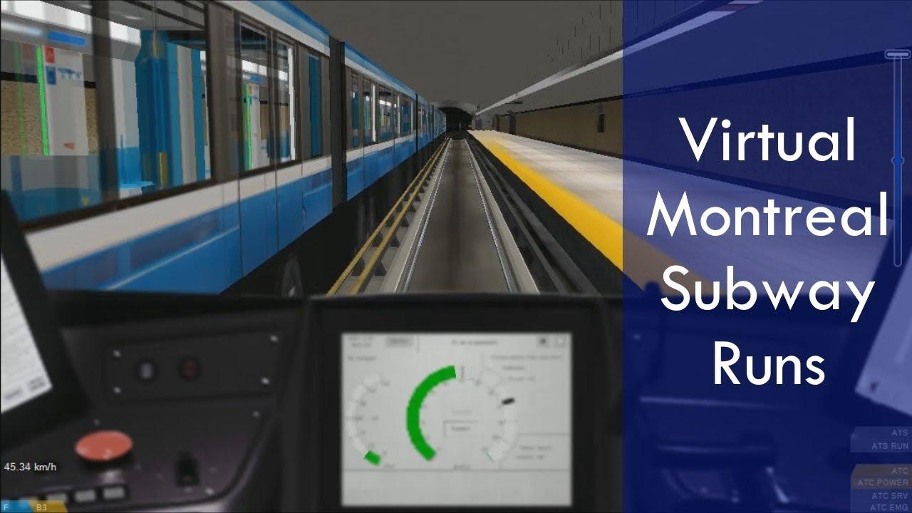Stcum Metro Map.Hd Virtual Montreal Metro Stm Openbve Subway Runs Youtube