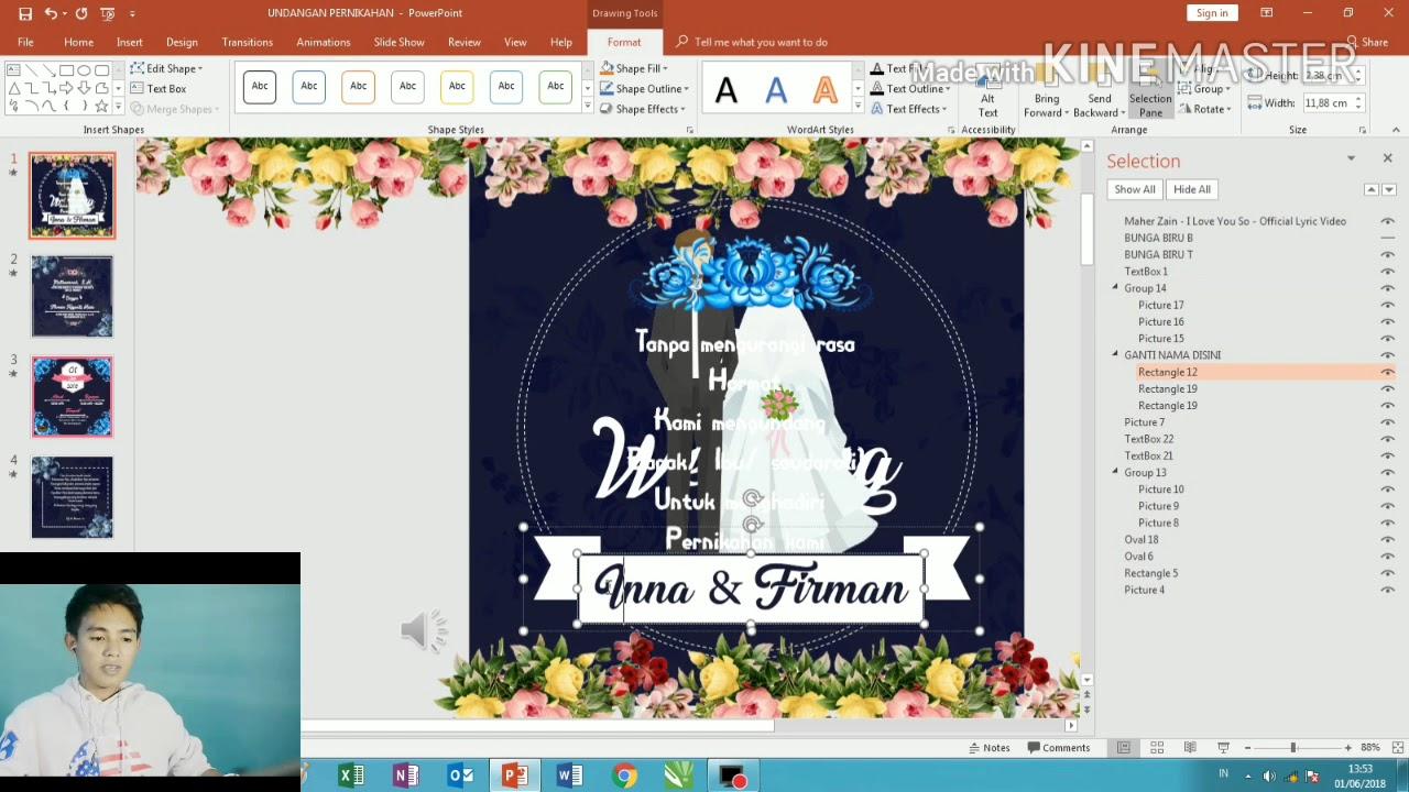 template video undangan pernikahan keren dan elegant