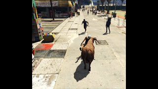 GTA V Cow Fight man #shorts