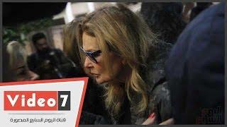 صفية العمرى وسميحة أيوب وزيزى وشهيرة ويسرى فى عزاء زوج ابنة فيفى عبده