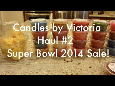 Candles by VIctoria Haul #2 - Super Bowl 2014 Sale!