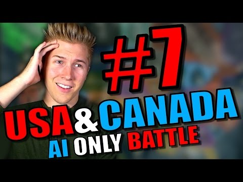 Hearts of Iron 4: USA & Canada States Mods Gameplay [AI Only] - HOI4 Hearts of Iron 4 - Part 7