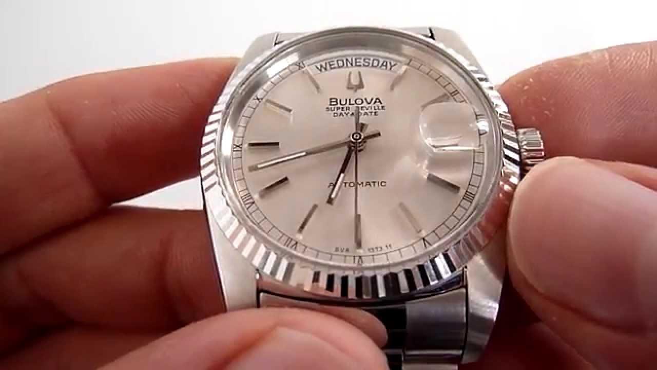 A la venta reloj bulova super seville autom tico para - Relojes de pared retro ...
