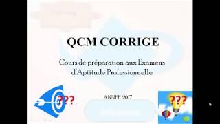 QCM CORRIGE