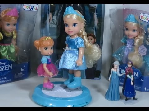 Frozen Dolls Young Anna Amp Elsa Ice Skating Ring Set Review