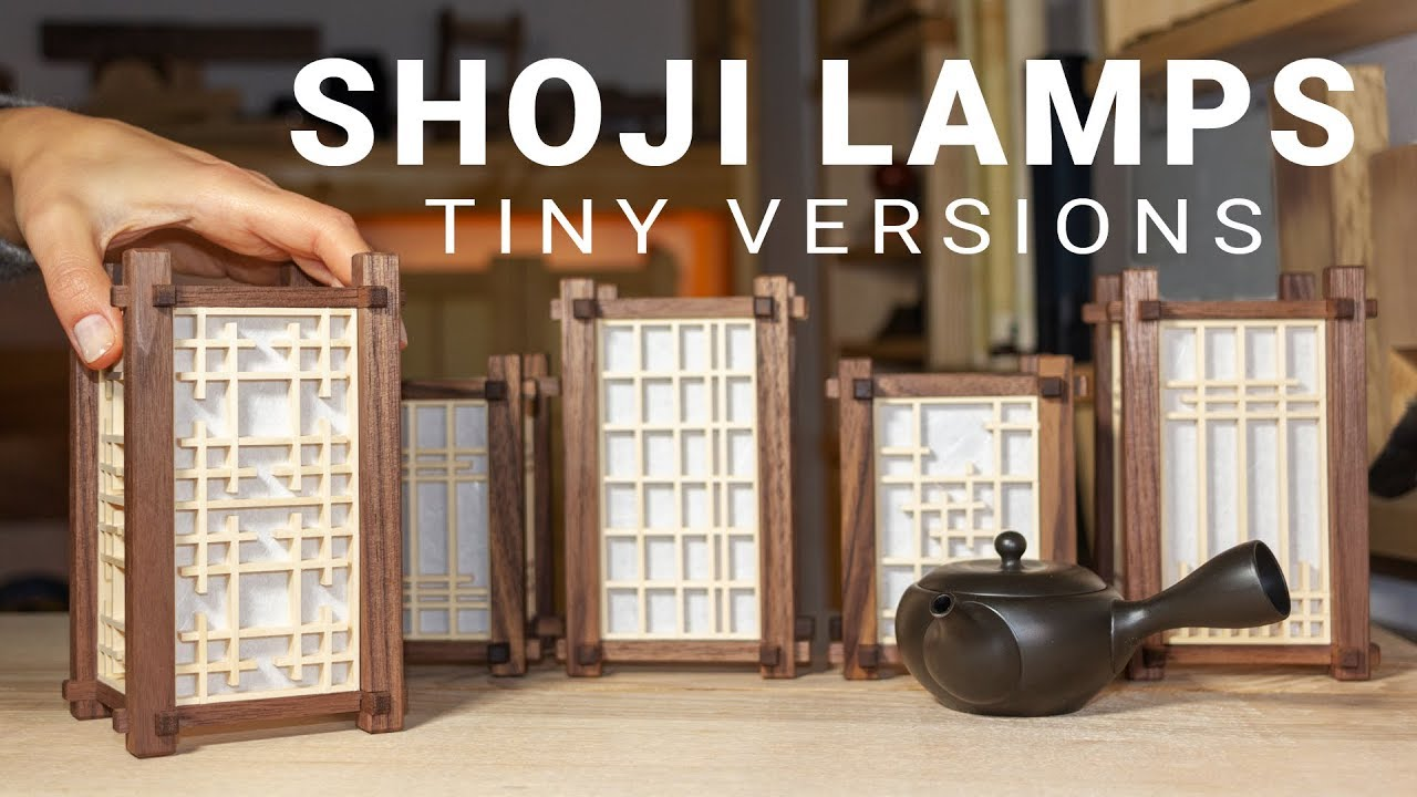 Making Mini Japanese Lamps With Various Kumiko Panels Youtube