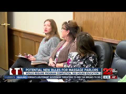 New Ordinance For Bakersfield Massage Parlors