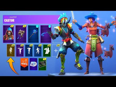 *NEW* Leaked Fortnite Skins & Emotes! (Harry Potter Skins, Bombastic, Llamacadabra,Male Power Chord)