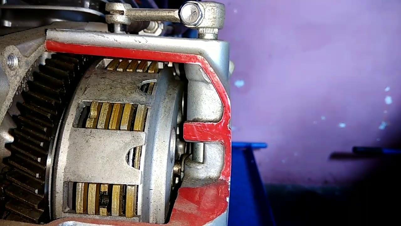 How Motorcycle Clutch Works Cara Kerja Kopling Manual Sepeda Motor Youtube
