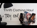 Rock Thrift Store Clothing Haul + TRY ON