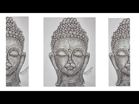 drawing-buddha-in-different-style-||-line-doodle-drawing