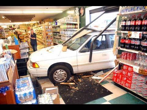 YARMOUTHPORT, MA- Car Crashed Through Peterson's Supermarket (07-24-10)
