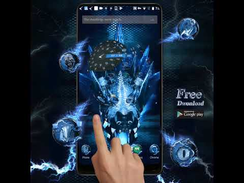 This Cool Lightning Ice Dragon Free 3d Android Theme Skin Collection Of Blue Dynamic Mobile Wallpaper