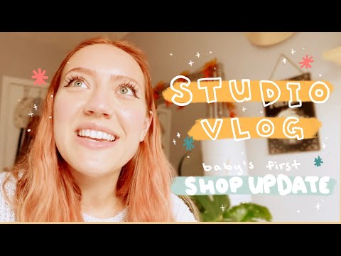 STUDIO VLOG 11| MINI SHOP UPDATE, Making Custom Tissue Paper, & New Patreon Happy Mail Tier!! 🍊🍄✨