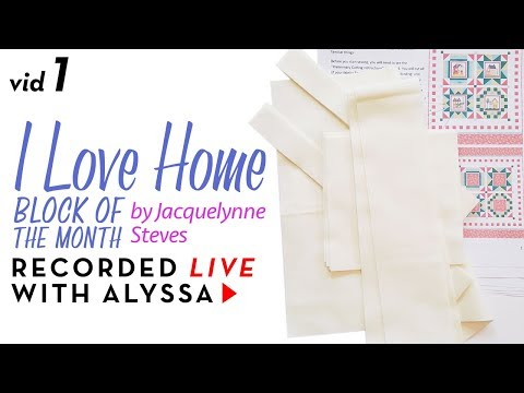 "Cutting fabric - Vid 1 ""I Love Home"" BOM - Designer Series #RelaxAndCraft"