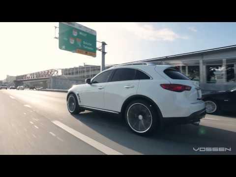Infiniti FX on 22 Vossen VVS CV1 Concave Wheels Rims