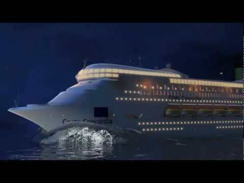 Costa Concordia Cruise Ship disaster: Animation shows how the accident happened!