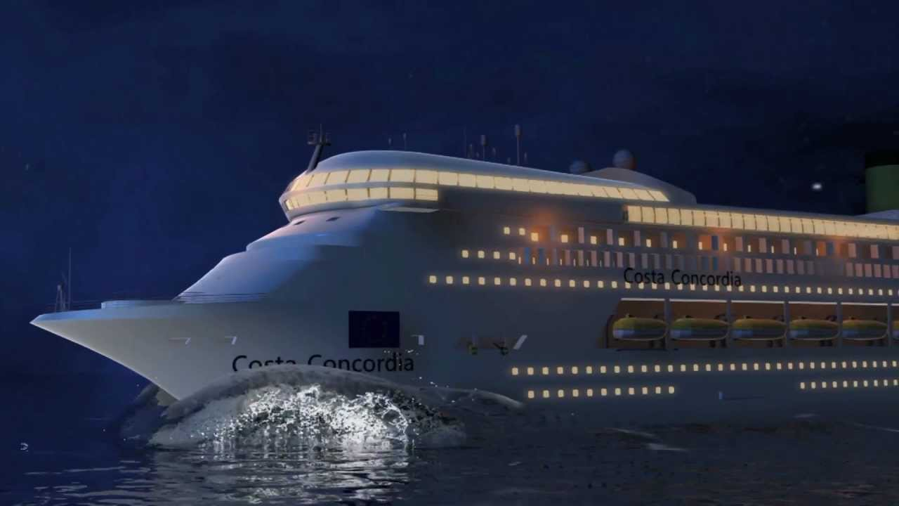 Costa Concordia Cruise Ship Disaster Animation Shows How The - What was the last cruise ship to sink