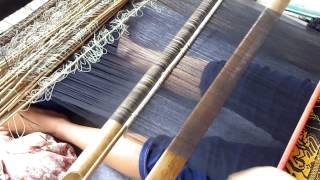 Songket Backstrap Weaving in Sidemen Bali INDONESIA by Ni Nengah Sukri