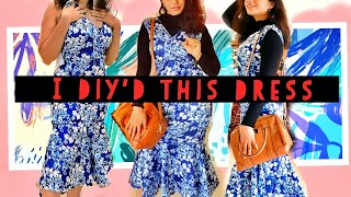 CAN I MAKE A DRESS FROM $10  | DIY CLOTHING HACKS | HOW TO MAKE  A DRESS  | WITHOUT PATTERN |