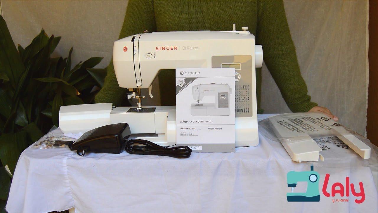 """Máquina de coser """"Singer Brillance 6180"""" - laly y su canal"""