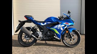 Suzuki GSXR 125 in 1080HD  - Walk around, Start Up and Road Test on the new Suzuki GSX-R 125