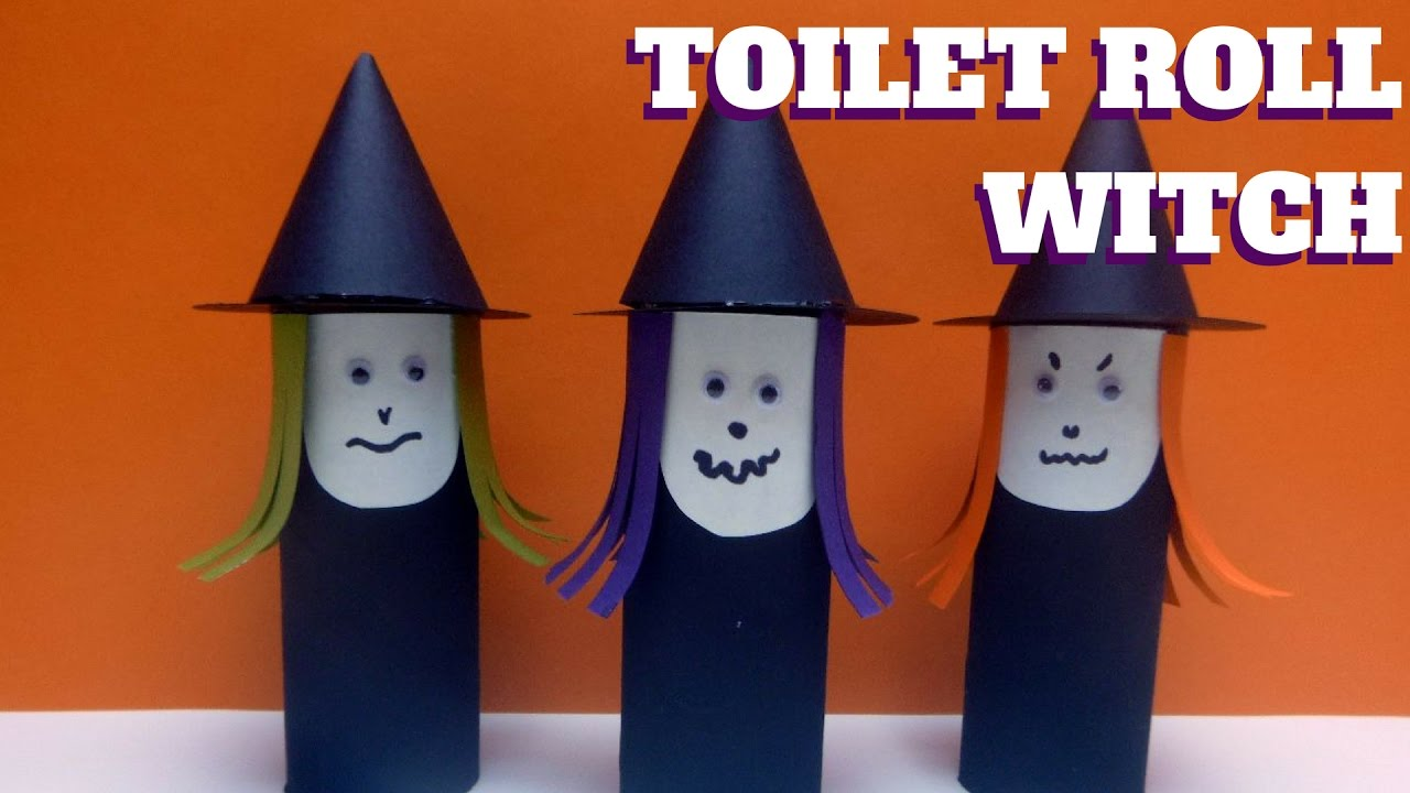 Halloween Craft Toilet Paper Roll Witch Toilet Paper