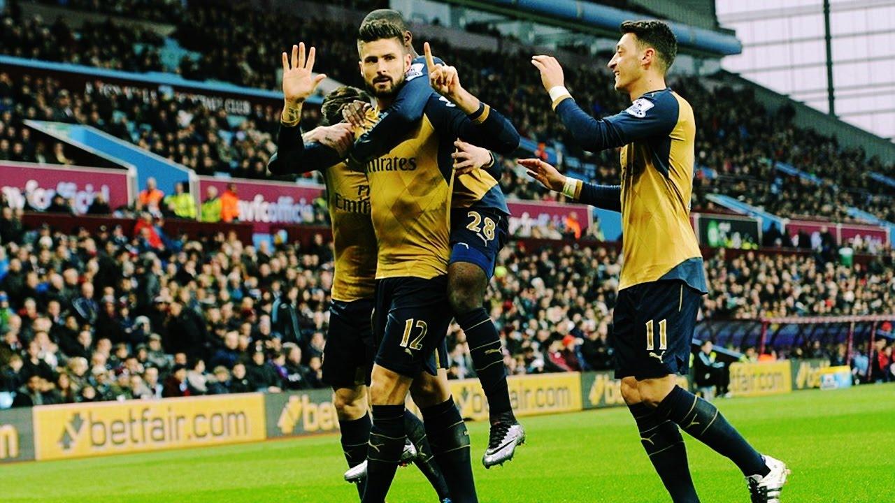 Aston Villa Vs Arsenal Scorers